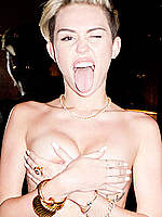 Miley Cyrus see through and topless photos